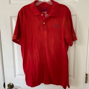 Hollister Distressed Polo Red/orange XL